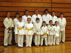 """<div class=""""source""""></div><div class=""""image-desc"""">The Owen County Judo Team took third place in the 2012 O.J. Helvey Kentucky State Judo Championship. Pictured are (front row from left to right) : Kaeleee von Hellens, Merideth David, Layla Creech, Joe Hamilton, Charlie Baumann, and Sebastian Alcorn.(Back row): John Thompson, Damian Parks, James Thompson, assistant coach Gary Alcorn, Robert Beverly, Jaimie Souders and Gavin Singleton.</div><div class=""""buy-pic""""><a href=""""/photo_select/7237"""">Buy this photo</a></div>"""