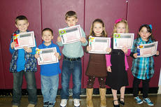 """<div class=""""source""""></div><div class=""""image-desc"""">The first-grade winners were Hagen New, Sabastian Alcorn, Isaac Wash, Kaitlyn Wilhoite, Sydney Cobb, and Madison Perkins. </div><div class=""""buy-pic""""><a href=""""/photo_select/4378"""">Buy this photo</a></div>"""