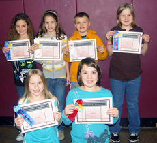 """<div class=""""source""""></div><div class=""""image-desc"""">The fifth-grade winners were (back row) Lindsey Gill, Macy Osborne, Grant Cobb, Heather Perkins, (front row) Rachel Miller and Jodie Ransdell.</div><div class=""""buy-pic""""><a href=""""/photo_select/4382"""">Buy this photo</a></div>"""