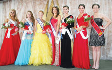 "<div class=""source"">Photo by Molly Haines</div><div class=""image-desc"">The winners of this year's Miss Golden Triangle Pageant held in conjunction with the 2013 Owen County Fan Fair were:  Teen Duchess Mycah Woosley of Grant County; Teen Princess Marlee Lathrem; Miss Teen Golden Triangle Veronica Chisholm; Miss Golden Triangle Madison Gamble; Miss Princess Carla Carofra; and Miss Duchess Tiffany Huffman of Hebron. Also pictured:  2012 Miss Golden Triangle and pageant announcer Christin Stoops.</div><div class=""buy-pic""><a href=""/photo_select/9920"">Buy this photo</a></div>"