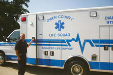 """<div class=""""source"""">Molly Haines</div><div class=""""image-desc"""">Owen County EMT Kevin Luther is excited about getting the advanced life support ambulance out on the roads of Owen County.</div><div class=""""buy-pic""""><a href=""""/photo_select/649"""">Buy this photo</a></div>"""