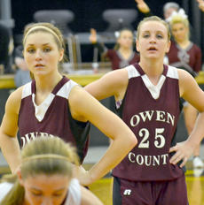 "<div class=""source"">Brian Blair </div><div class=""image-desc"">Lady Rebels Hannah Neeley and Kennedi Dermon wait to go on offense during the game against Gallatin County. </div><div class=""buy-pic""><a href=""/photo_select/9001"">Buy this photo</a></div>"
