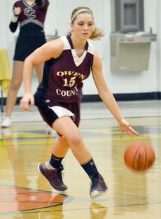 "<div class=""source"">Brian Blair </div><div class=""image-desc"">Hannah Neeley brings the ball up the floor.</div><div class=""buy-pic""><a href=""/photo_select/9000"">Buy this photo</a></div>"