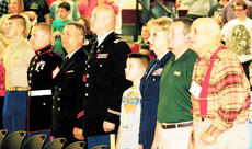 """<div class=""""source""""></div><div class=""""image-desc"""">Veterans of all ages were honored at Maurice Bowling Middle School's Veteran's Day program Monday.</div><div class=""""buy-pic""""><a href=""""/photo_select/8431"""">Buy this photo</a></div>"""