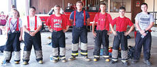 """<div class=""""source""""></div><div class=""""image-desc"""">The Owen County junior firefighters are Cameron Duvall, Christopher Curtis, Daniel Lilly, Erik Lilly, Adam Estes, Kevin Ingram and Joshua Sizemore. Not pictured are Chris Sutton and Jacob Miller.  </div><div class=""""buy-pic""""><a href=""""/photo_select/5700"""">Buy this photo</a></div>"""