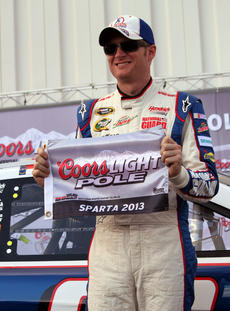 "<div class=""source"">Photo by Will Hearne</div><div class=""image-desc""> Dale Earnhardt Jr. earned the pole position for the Quaker State 400. </div><div class=""buy-pic""><a href=""/photo_select/9886"">Buy this photo</a></div>"