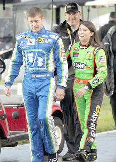 "<div class=""source"">Photo by Will Hearne</div><div class=""image-desc"">Drivers Ricky Steinhouse and Danica Patrick heading to driver introductions. </div><div class=""buy-pic""><a href=""/photo_select/9888"">Buy this photo</a></div>"