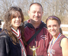 """<div class=""""source"""">David Clark</div><div class=""""image-desc"""">Owen County golfer Krista Power, left, and cross country runner Danielle Hooper, right, each received special recognition earlier this year for their conduct on and off the field. Hoop and Power were given sportsmanship awards following their respective state tournaments. Power and Owen County Cross Country Coach Jeff Sutton, center, were on hand to see Hoop receive the honor at the state track meet in November. </div><div class=""""buy-pic""""><a href=""""/photo_select/3853"""">Buy this photo</a></div>"""