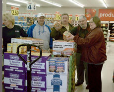 """<div class=""""source""""></div><div class=""""image-desc"""">On March 27, Owenton Rotary members Ronnie Roberts, Bill Dayton, David Marlow and Joan Kincaid met at Save-A-Lot to purchase food items for the Power Packs Program after applying for and receiving a grant for $500, a match to what the four had already donated. The food was purchased and delivered to be placed in bags. The bags were delivered to Owen County schools for teachers to hand out to students. The Power Packs Program helps to meet the needs of hungry children in Owen County.</div><div class=""""buy-pic""""><a href=""""/photo_select/9189"""">Buy this photo</a></div>"""