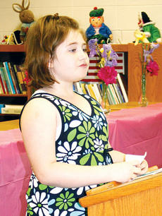 "<div class=""source"">Molly Haines</div><div class=""image-desc"">Mercedes Bourne spoke to the group on the News-Herald and all of the work that goes into publishing a newspaper.</div><div class=""buy-pic""><a href=""/photo_select/5150"">Buy this photo</a></div>"