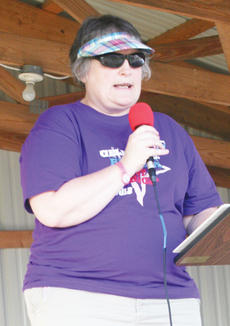 "<div class=""source""></div><div class=""image-desc"">Kim Morgan was this year's Relay For Life chairperson.</div><div class=""buy-pic""><a href=""http://web2.lcni5.com/cgi-bin/c2newbuyphoto.cgi?pub=033&orig=Relay-7_0.jpg"" target=""_new"">Buy this photo</a></div>"