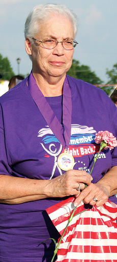 "<div class=""source"">Photo by Molly Haines</div><div class=""image-desc"">Donna Bryant takes a turn around the track. Look for more 2012 Relay for Life photos in multimedia section on the News-Herald's web site home page.</div><div class=""buy-pic""><a href=""http://web2.lcni5.com/cgi-bin/c2newbuyphoto.cgi?pub=033&orig=Relay-8.jpg"" target=""_new"">Buy this photo</a></div>"