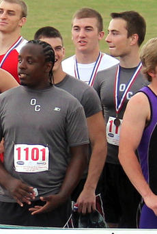 """<div class=""""source""""></div><div class=""""image-desc"""">OCHS Seniors left to right,Chris Smith, Collin Trammel, Paul Banks and Ian Oaks earned the sixth spot in the boys 4x100-meter relay at the KHSAA State Track Meet in Louisville Saturday The relay team's time was 45.48.</div><div class=""""buy-pic""""><a href=""""/photo_select/9537"""">Buy this photo</a></div>"""