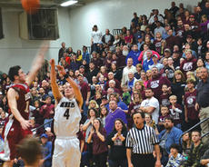 """<div class=""""source""""></div><div class=""""image-desc"""">In front of the Rebel faithful, Owen County's Jarrod Ball puts up a shot that will lead to Carson Williams' rebound and score at the buzzer which gave the Rebels their third-straight district title. </div><div class=""""buy-pic""""><a href=""""/photo_select/11306"""">Buy this photo</a></div>"""