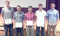 "<div class=""source""></div><div class=""image-desc"">Five members of the Owen County High School boys basketball team were named to the KSHAA All-State Academic First Team. Pictured are, from left to right, Carson Williams, Trevor Lykins, Tucker Trenary, Blaine Forsee, and Jarrod Ball. </div><div class=""buy-pic""><a href=""/photo_select/11777"">Buy this photo</a></div>"