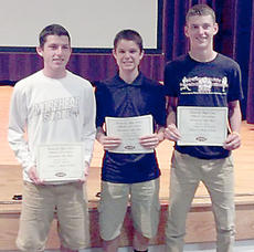 "<div class=""source""></div><div class=""image-desc"">Four members of the Owen County High School boys basketball team received honorable mentions to the KHSAA All-State Academic team. Pictured, from left to right, are Hunter Trenary, Chad McDonald, and Cameron McAnally. Also named to the team but not picture is Vince Toftness.</div><div class=""buy-pic""><a href=""/photo_select/11778"">Buy this photo</a></div>"