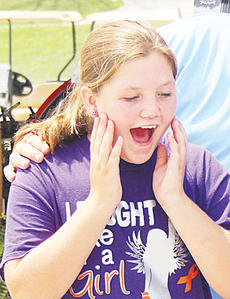 "<div class=""source""></div><div class=""image-desc"">Owen County's Brianna Perkins was shocked Saturday when she received an invitation to hunt at Arrow Ridge Ranch in Wisconsin during the annual Beka's Toppers Sporting and Clay Archery Shoot at Elk Creek Hunt Club. </div><div class=""buy-pic""><a href=""/photo_select/12203"">Buy this photo</a></div>"