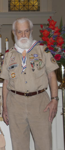 "<div class=""source"">Ernie Stamper</div><div class=""image-desc"">George Hendricks in his beloved scout uniform on Scout Sunday, 2008, age 92.</div><div class=""buy-pic""></div>"