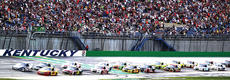 """<div class=""""source"""">Photo by Will Hearne</div><div class=""""image-desc"""">As the green flag goes down, the field for the 2014 Quaker State 400 takes off at the Kentucky Speedway Saturday. </div><div class=""""buy-pic""""><a href=""""/photo_select/11937"""">Buy this photo</a></div>"""