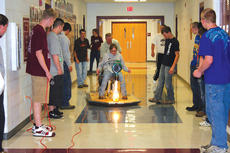 "<div class=""source"">Molly Haines</div><div class=""image-desc"">Owen County High School senior Daphne Cobb takes one of the inaugural rides on the students' hovercraft.</div><div class=""buy-pic""><a href=""/photo_select/2559"">Buy this photo</a></div>"