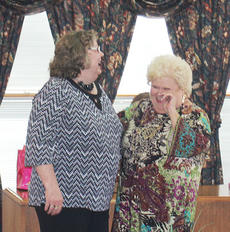 "<div class=""source"">Photos by John Whitlock</div><div class=""image-desc"">At her retirement party, Joan Kincaid, left, who recently stepped down as Owen County Clerk, shares a joke with her predecessor in the office Mary Kay Duncan. The party was held Sunday at the Owen County Extension Service Office.</div><div class=""buy-pic""><a href=""http://web2.lcni5.com/cgi-bin/c2newbuyphoto.cgi?pub=033&orig=joan-1.jpg"" target=""_new"">Buy this photo</a></div>"