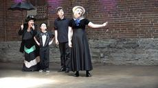 "<div class=""source"">Ernie Stamper</div><div class=""image-desc"">Daughter Becky and her children performing ""A Mary Poppins Medley"" </div><div class=""buy-pic""></div>"