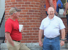 "<div class=""source""></div><div class=""image-desc"">Former Kentucky State Police trooper Mark Bess, right, won the Republican Party's nomination for Owen County sheriff and will face incumbent Zemer Hammond who won the Democratic Party's nomination Tuesday night.</div><div class=""buy-pic""><a href=""/photo_select/11797"">Buy this photo</a></div>"