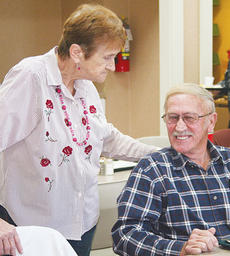 "<div class=""source"">Photo by Molly Haines</div><div class=""image-desc"">Ethel Hammond and Kenneth Wainscott enjoy the new Owen County Senior Center Tuesday morning. The center relocated to the former Owen County Public Library building Monday. </div><div class=""buy-pic""><a href=""http://web2.lcni5.com/cgi-bin/c2newbuyphoto.cgi?pub=033&orig=sc-ethel-and-kenneth-wainscott.jpg"" target=""_new"">Buy this photo</a></div>"