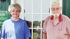 """<div class=""""source"""">Molly Haines</div><div class=""""image-desc"""">Gwen Rawe (left) and her father Bruce Clark (right) hope to see Wright Way Cemetery open soon. Clark said Rawe will help with security as needed and will help take care of families.</div><div class=""""buy-pic""""><a href=""""/photo_select/3258"""">Buy this photo</a></div>"""