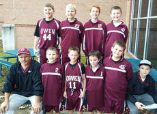 """<div class=""""source""""></div><div class=""""image-desc"""">Pictured (from left to right) are (back row) Isaac Wash, Tennyson Hensley, Spencer Blair, Hagen New; (front row) Head Coach Robin Cobb, Lincoln Cobb, Eli Rice, Joe Hamilton, Blake Fitzgerald, and assistant coach Grant Cobb.</div><div class=""""buy-pic""""><a href=""""/photo_select/11283"""">Buy this photo</a></div>"""
