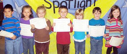 Kindergarten Oct. PAWS-itive Citizens of the Month