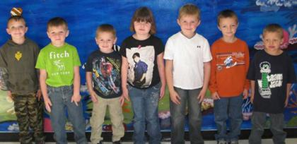 Kindergarten Start Student Award winners