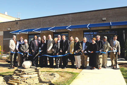 State, local and company officials were on hand to cut the ribbon on the new Kentucky-American pumping station at the Owen-Franklin county line.