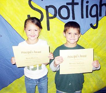 Preschool Principal's Award winners for Sept. and Oct.