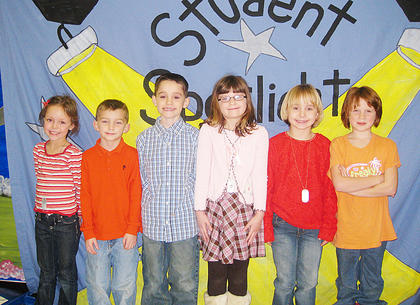Second Grade Star Student Award Winners