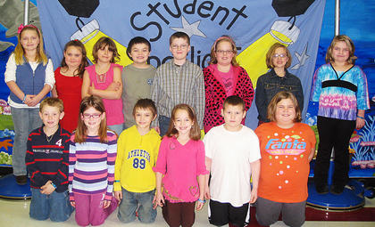 Second Grade November and December PAWS-itive Citizens of the Month Award Winners