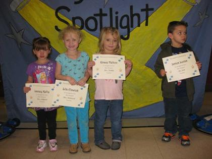 Preschool Star Student Award winners
