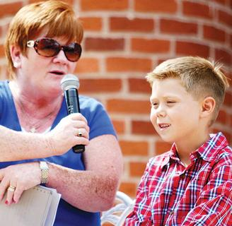 The Little Master Sweet Owen Festival was awarded to Kade New, who talked about some of his favorite things with the events MC, Melody Stafford.