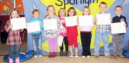 Kindergarten Oct. PAWS-itive Citizens of the Month.