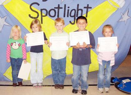 Kindergarten Sept. PAWS-itive Citizens of the Month