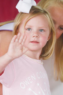 Gretchen Powers participated in the Little Princess pageant.