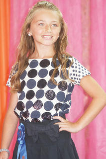 Haylee Neeley participated in the Miss Preteen pageant.