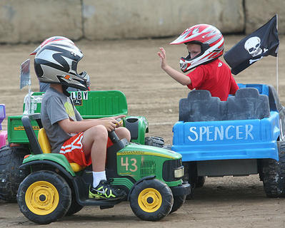 The Power Wheels Derby was held prior to the demolition derby, for kids 4 to 8 years old.