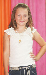 Trinity Craig participated in the Miss Preteen pageant.
