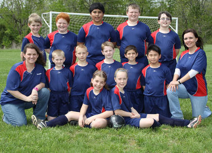 Standing (left to right): Wade Cammack, Adam Dunavent, Joshua Juarez, Trace Ogden, Adrian VonHellens; Kneeling (left to right): Coach Melissa Cammack, Abram Phillips, Blake Burke, Canaan Phillips, Austin Burgess, Noah Malcomb, Coach Barbara Epperson; Front row (left to right): Emily Cammack, Destinee Epperson; Not pictured: Miranda Wilhoite