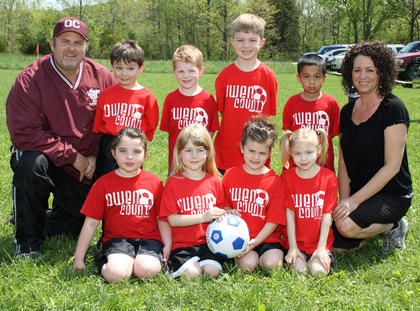 Back row (left to right): Coach Glenn Wright, Evan Jennings, Lake Bastin, Landen Perkins, Alexander Valadez, Coach Amy Chappell; Front row (left to right): Madison Perkins, Katie Fisk, Lilly Chappell, Gabi Stewart