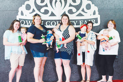 Winners of the 2016 Owen County Fair Baby Contest (age 0-11 months), left to right: Friendliest, Addison Humphries; Prettiest Eyes, Wyatt Logan; Best Boy, Layne Nunnelley; Best Girl, Rowan Porter; Biggest Smile, Keiser Sharp.