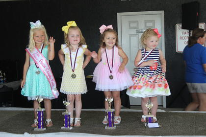 The winners of the 2017 Little Princess Owen County Fair were (from left to right): Little Princess winner Kinlee Dunn; second runner up, Lindzee Jo Scott; first runner up, Lacie Rische and people's choice, Aubrey Odom.