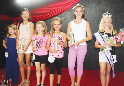 The Miss Pre-Teen winners were Miss Congeniality and Peoples Choice Adi Bowling; fourth runner-up Meg Gamm; third runner-up Brie Dunavent; second runner-up Ellie Anderson; first runner-up Kylee Robinson and 2014 Miss Pre-Teen Owen County Fair Macie Chappell.