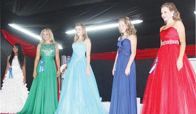The contestants and winners in this year's Miss Teen Owen County include Cree Beeles, People's Choice winner; Kaylee Miller, 2014 Miss Teen Owen County Fair;  Katie Hensley; Elizabeth Walker; and Marlee Lathrem, second runner-up.